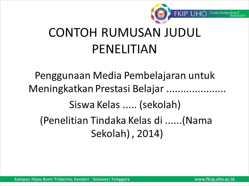 CONTOH RUMUSAN TEKNIK PENGUMPULAN DATA (2) 2.