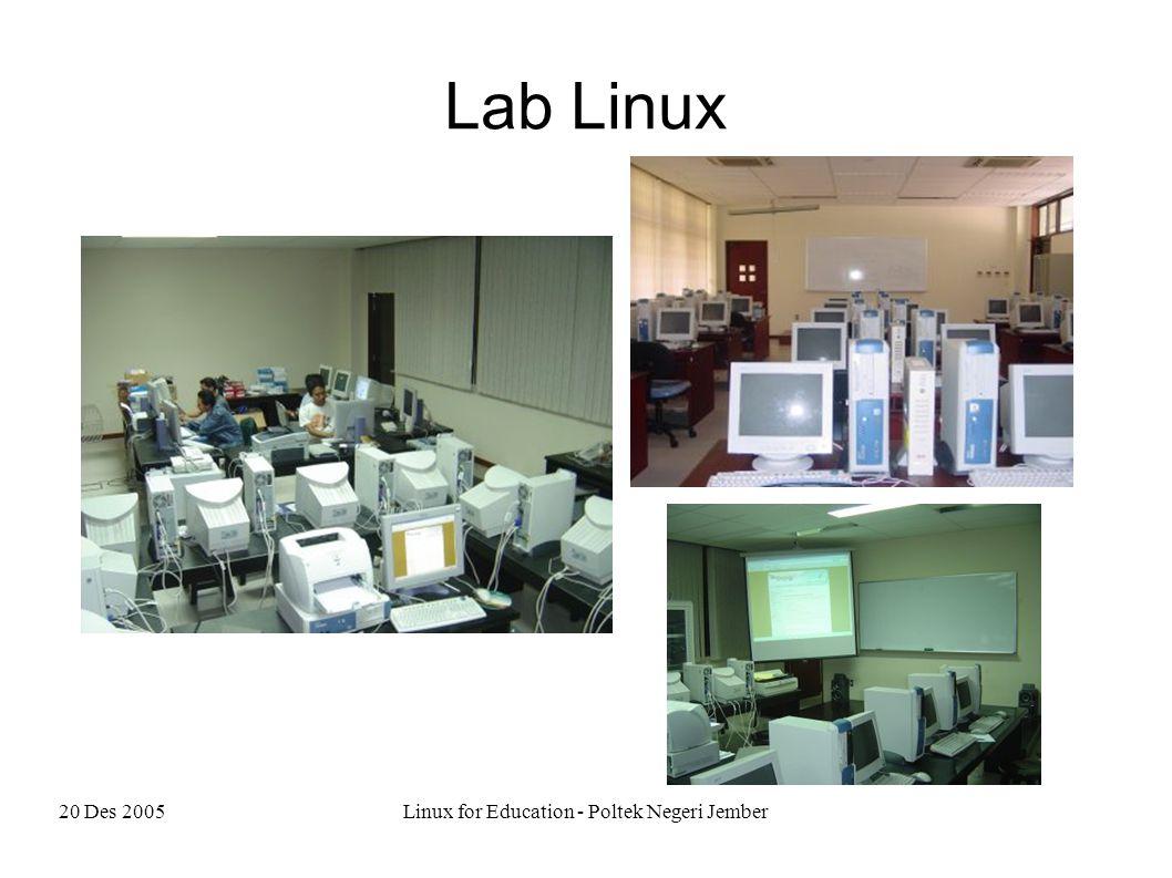 20 Des 2005Linux for Education - Poltek Negeri Jember Lab Linux