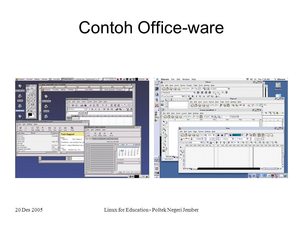 20 Des 2005Linux for Education - Poltek Negeri Jember Contoh Office-ware