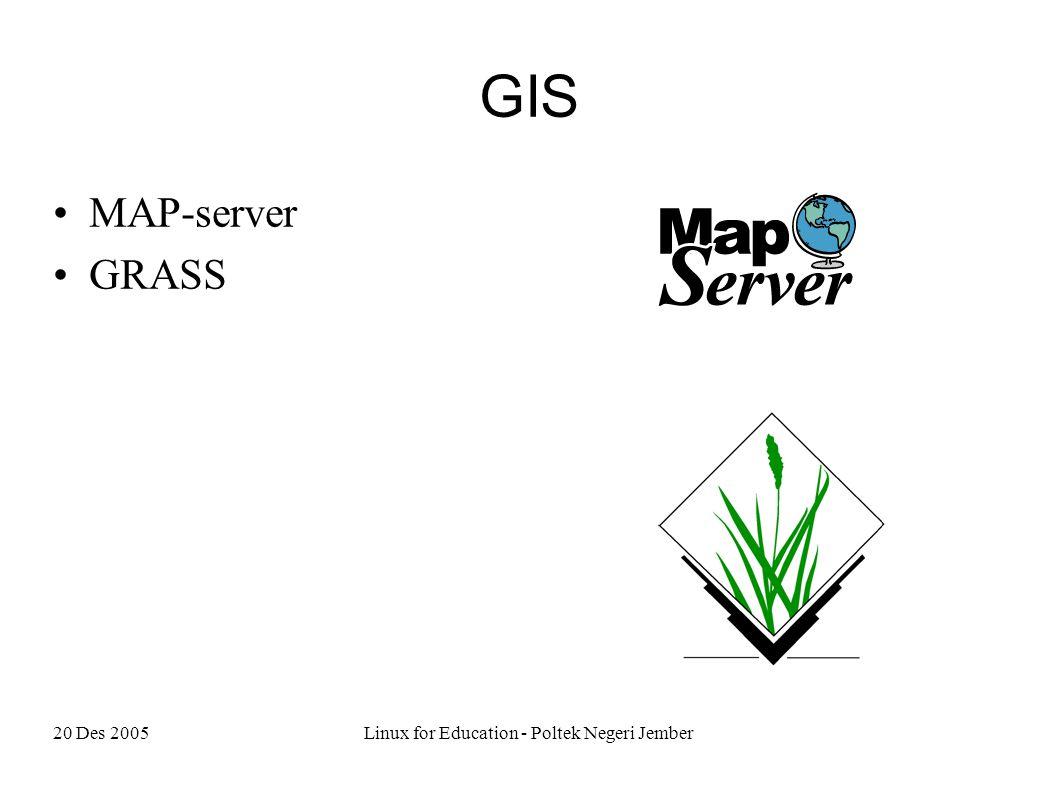 20 Des 2005Linux for Education - Poltek Negeri Jember GIS MAP-server GRASS