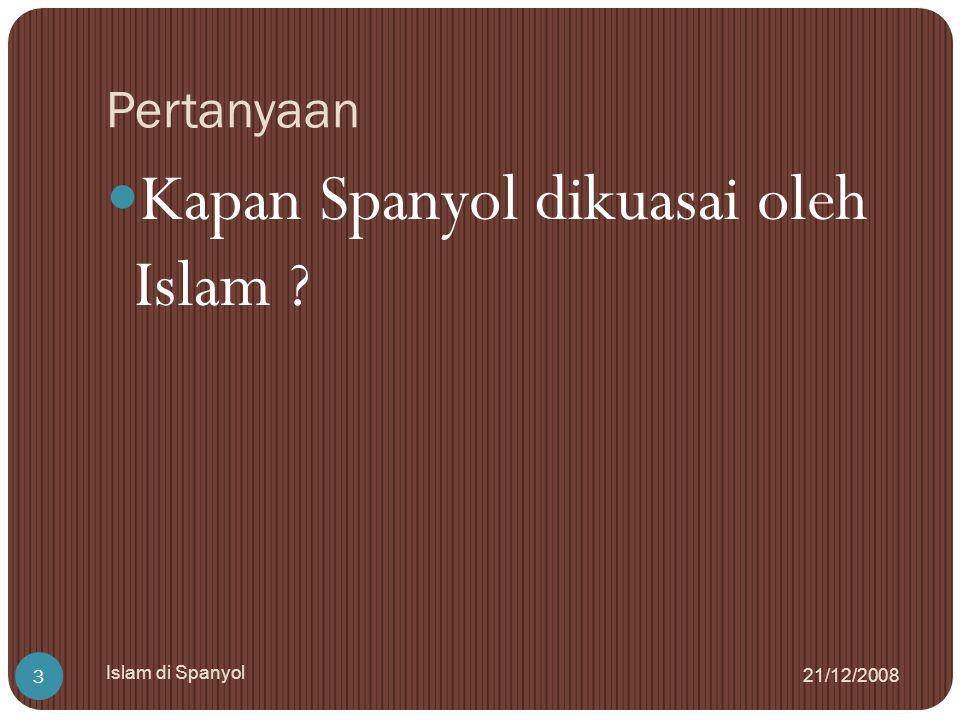 Faktor Kemajuan 21/12/2008 Islam di Spanyol 14 Penguasa yang berwibawa : Abdul Rahma al-Dakhil, Adul Rahman al-Wasith, Abdul Rahman al-Nashir.