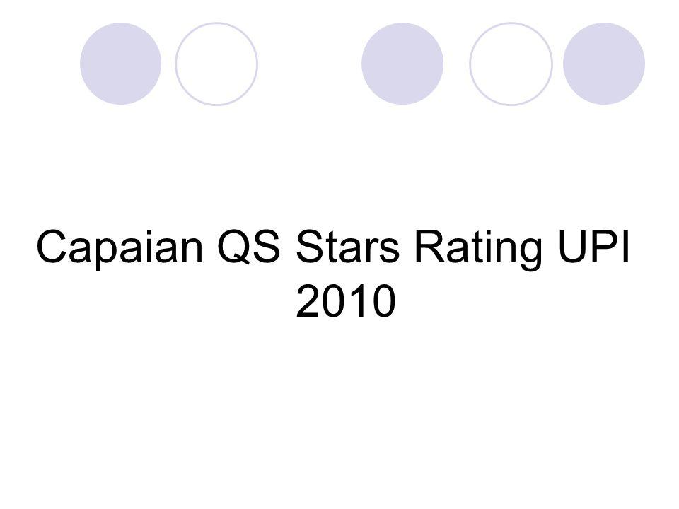Capaian QS Stars Rating UPI 2010