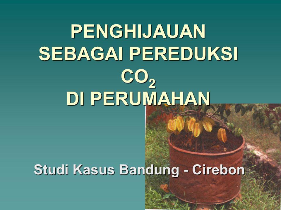 PENGHIJAUAN SEBAGAI PEREDUKSI CO 2 DI PERUMAHAN Studi Kasus Bandung - Cirebon