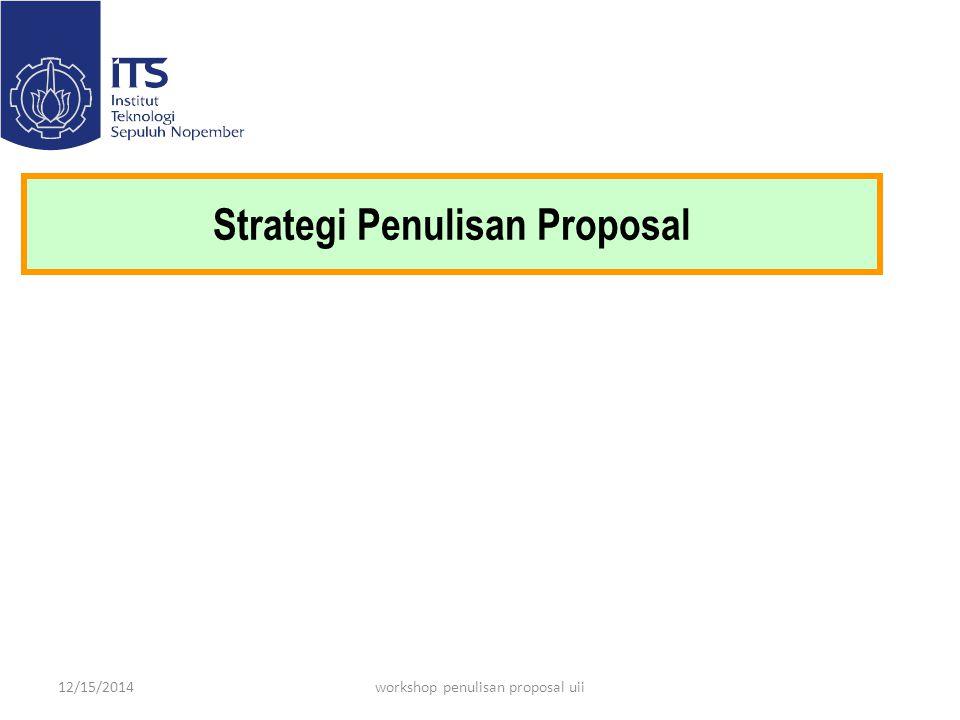 Masalah Industri, Perusahaan, dll Penelitian 12/15/2014workshop penulisan proposal uii