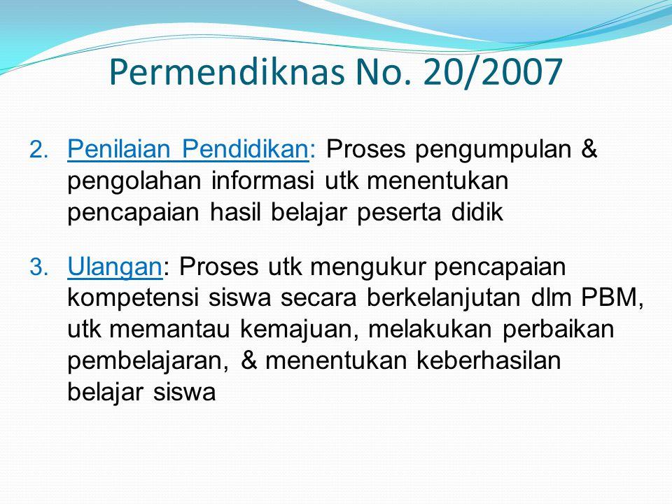 Permendiknas No.20/2007 2.