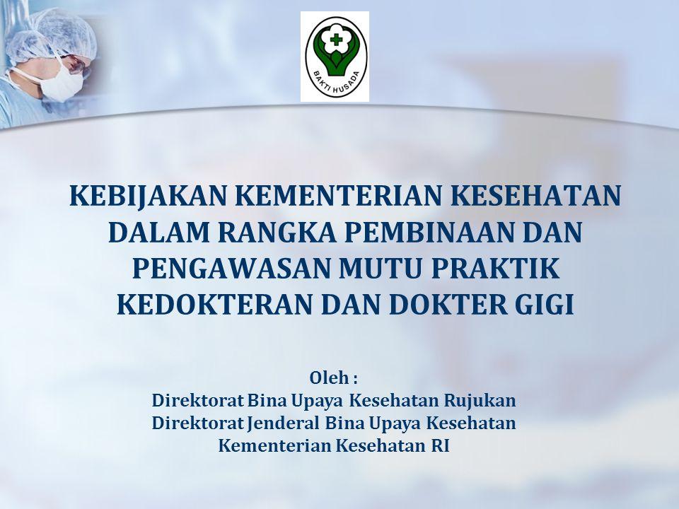 Binwas Untuk Praktik Mandiri  sesuai Tupoksi dan kewenangan Dinkes yang mengeluarkan SIP bagi Dr/ Drg 1.