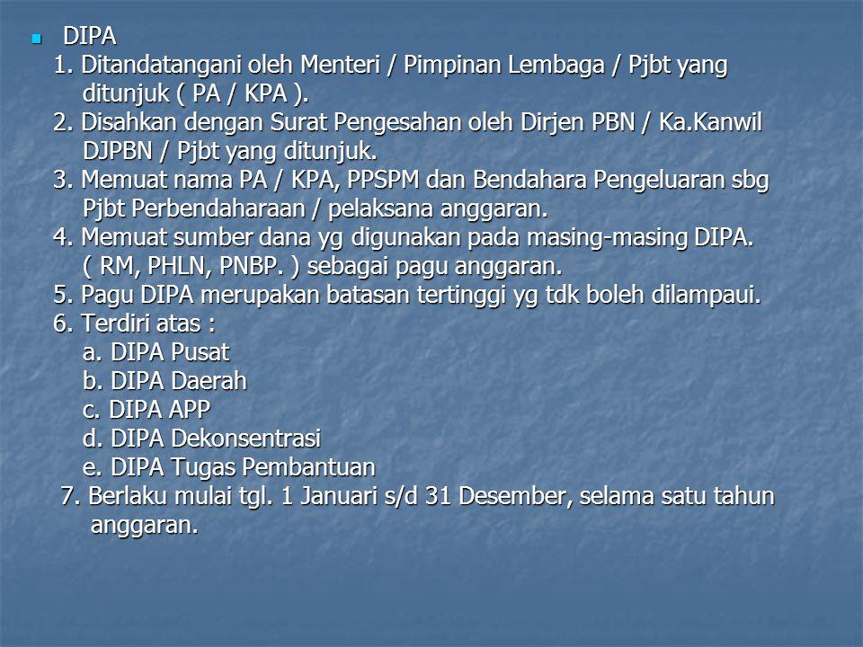 Pelaksanan Anggaran Belanja Berdasarkan dokumen pelaksanaan anggaran Berdasarkan dokumen pelaksanaan anggaran DIPA adalah dok. pelaksanaan anggaran ba