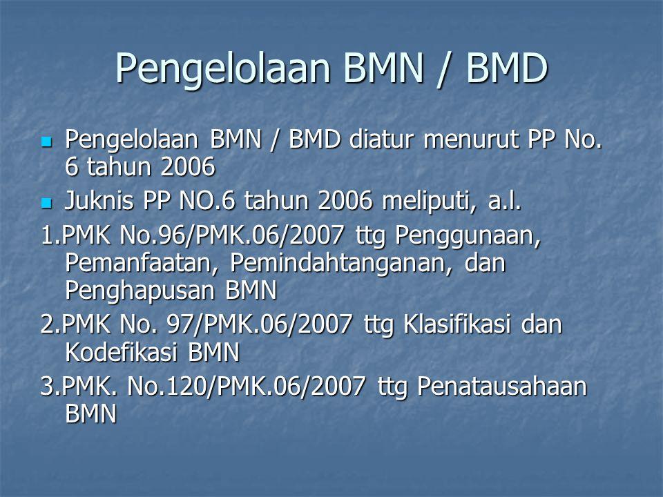 Pengelolaan BMN/BMD Menteri Keuangan adalah Pengelola B M N Menteri Keuangan adalah Pengelola B M N Menteri/Pimp. Lmbg adalah Pengguna B M N Menteri/P