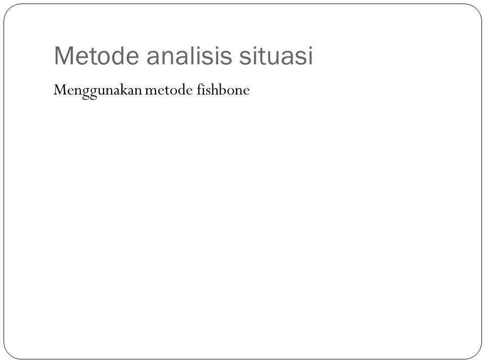 Metode analisis situasi Menggunakan metode fishbone