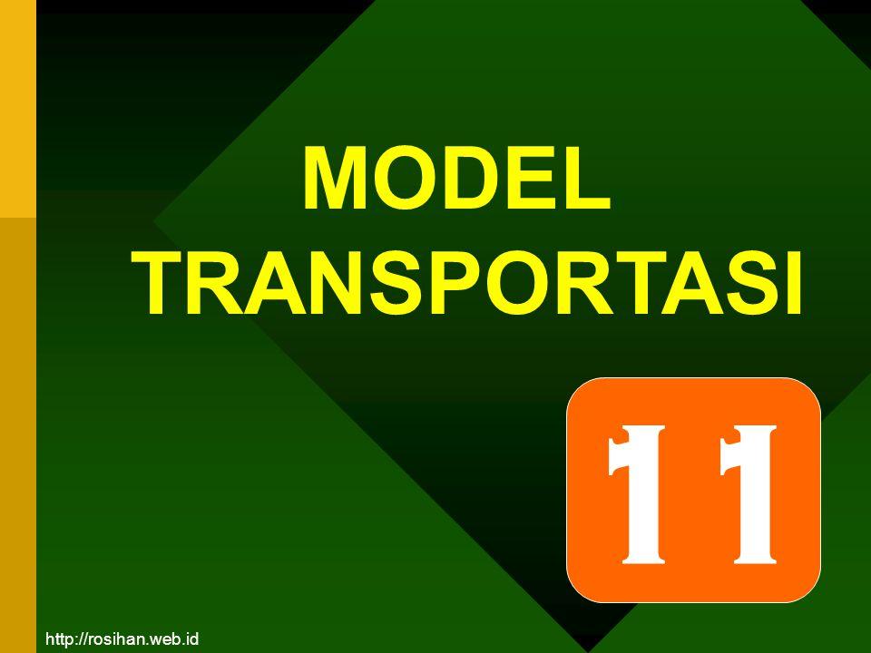 Model Transportasi:  Merupakan salah satu bentuk dari model jaringan kerja (network).