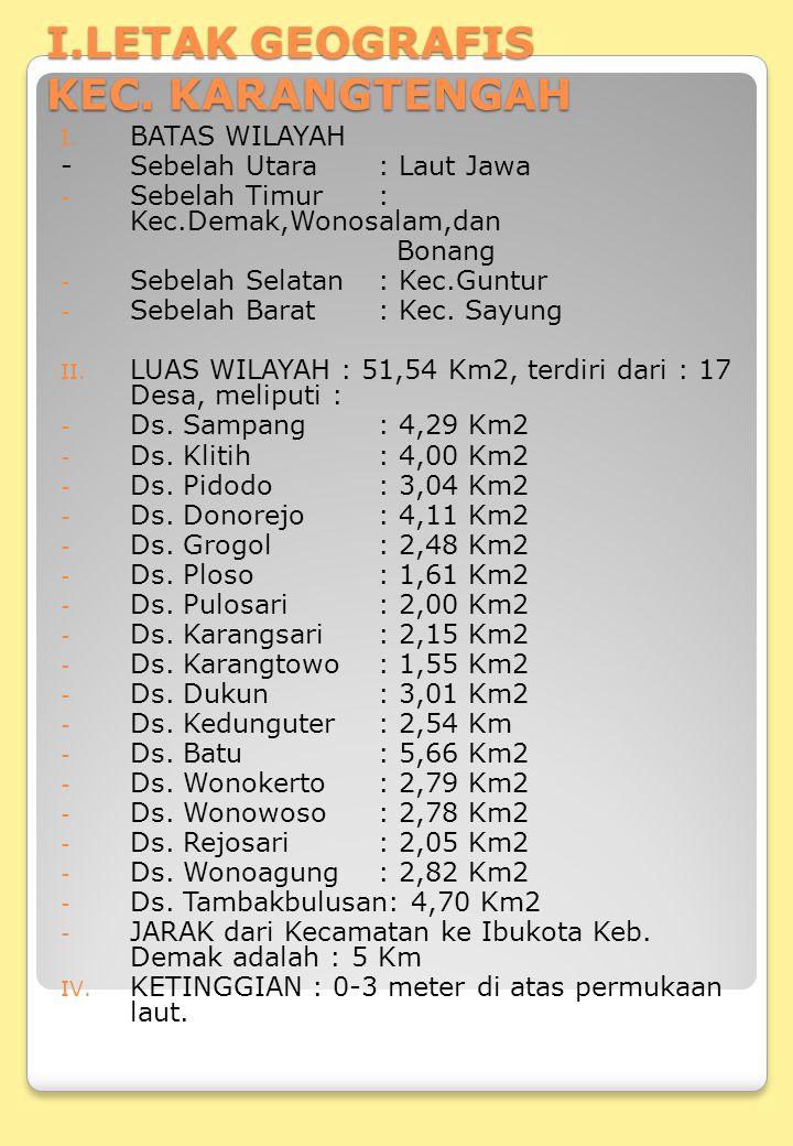 V.JENIS TANAH : Asosiasi : Aluvial Kelabu Fisiografis : dataran Rendah.
