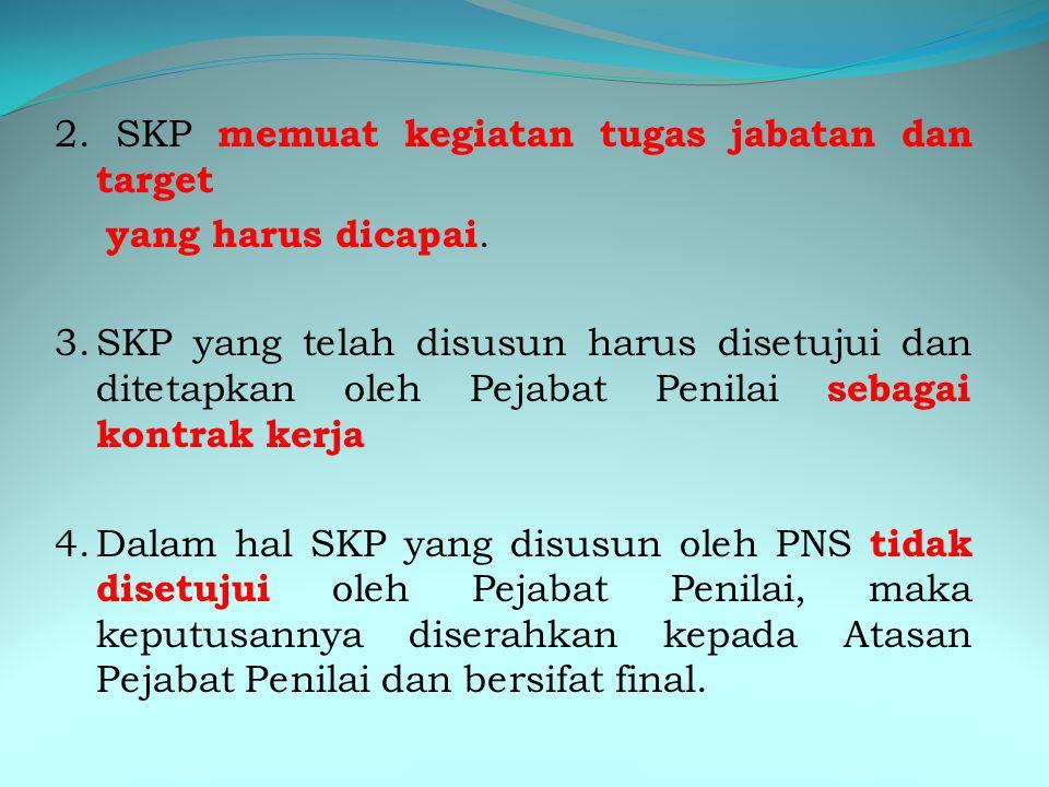 III. TATA CARA PENYUSUNAN SKP 1.Setiap PNS wajib menyusun SKP berdasarkan RKT instansi. Hal-hal yang harus diperhatikan dalam menyusun SKP: Jelas Dapa