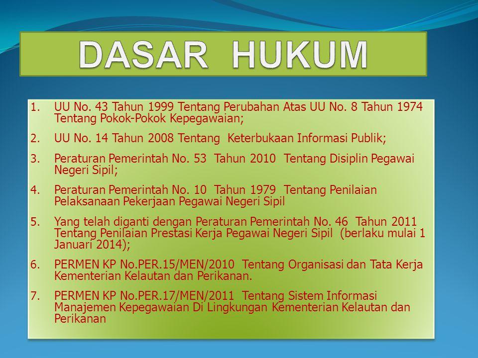 1.UU No. 43 Tahun 1999 Tentang Perubahan Atas UU No.