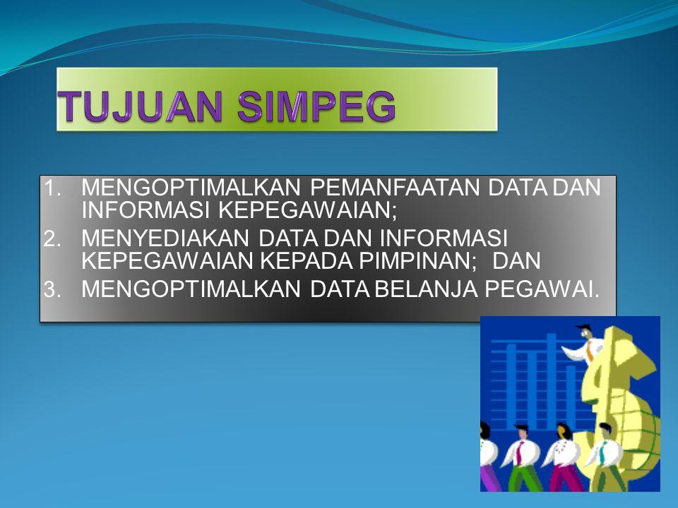 1.MENGOPTIMALKAN PEMANFAATAN DATA DAN INFORMASI KEPEGAWAIAN; 2.