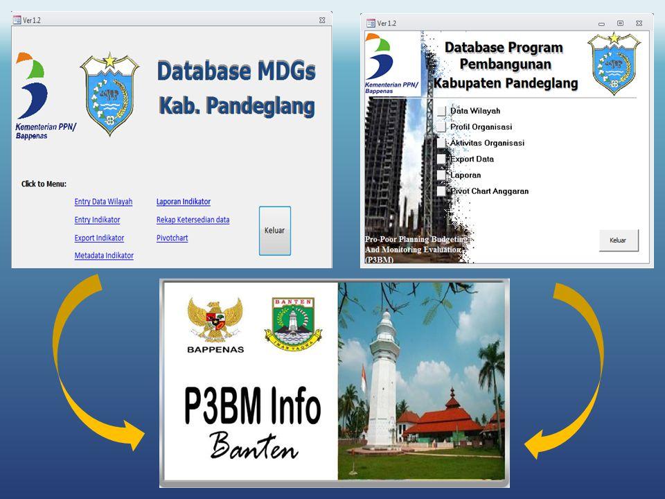  Mempermudah pengelolaan dan distribusi data (data sektor, BPS dan Statistik Khusus)  Menjamin ketersediaan dan kualitas data  Menjamin kualitas analisa untuk perencanaan, penganggaran, monitoring, pelaporan dan penyusunan dokumen pembangunan