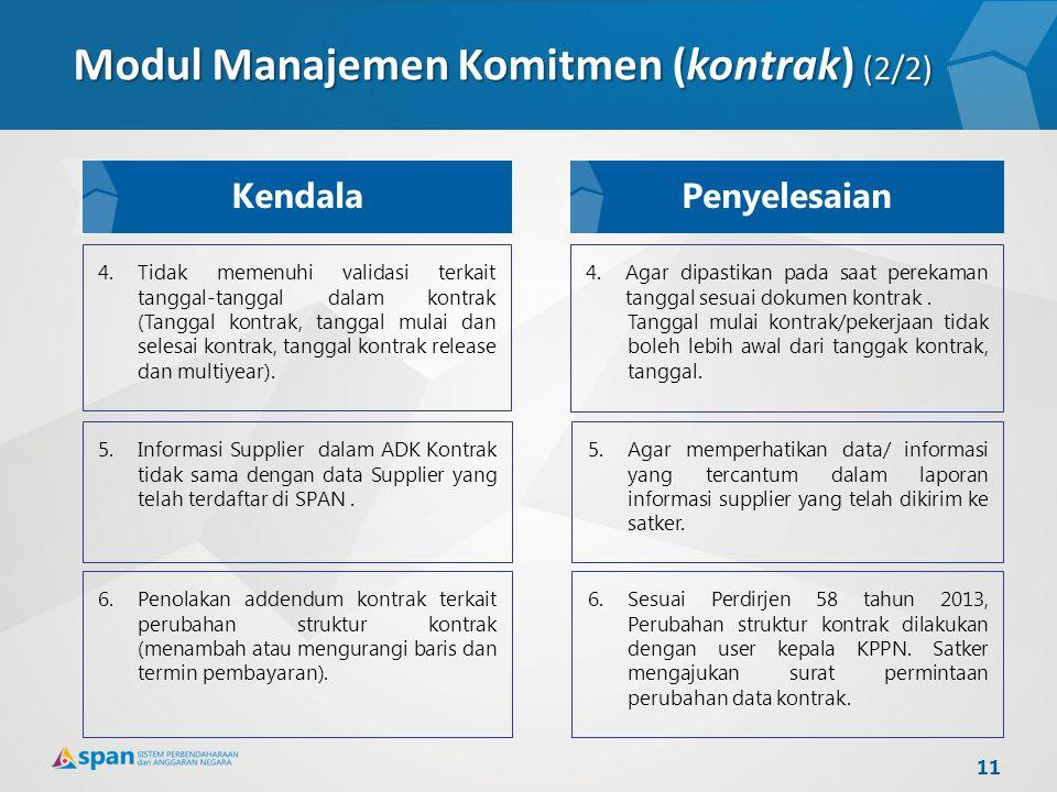 4.Tidak memenuhi validasi terkait tanggal-tanggal dalam kontrak (Tanggal kontrak, tanggal mulai dan selesai kontrak, tanggal kontrak release dan multi