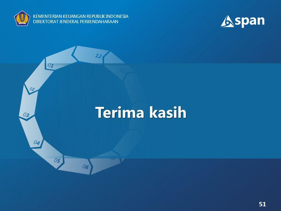 51 KEMENTERIAN KEUANGAN REPUBLIK INDONESIA DIREKTORAT JENDERAL PERBENDAHARAAN Terima kasih