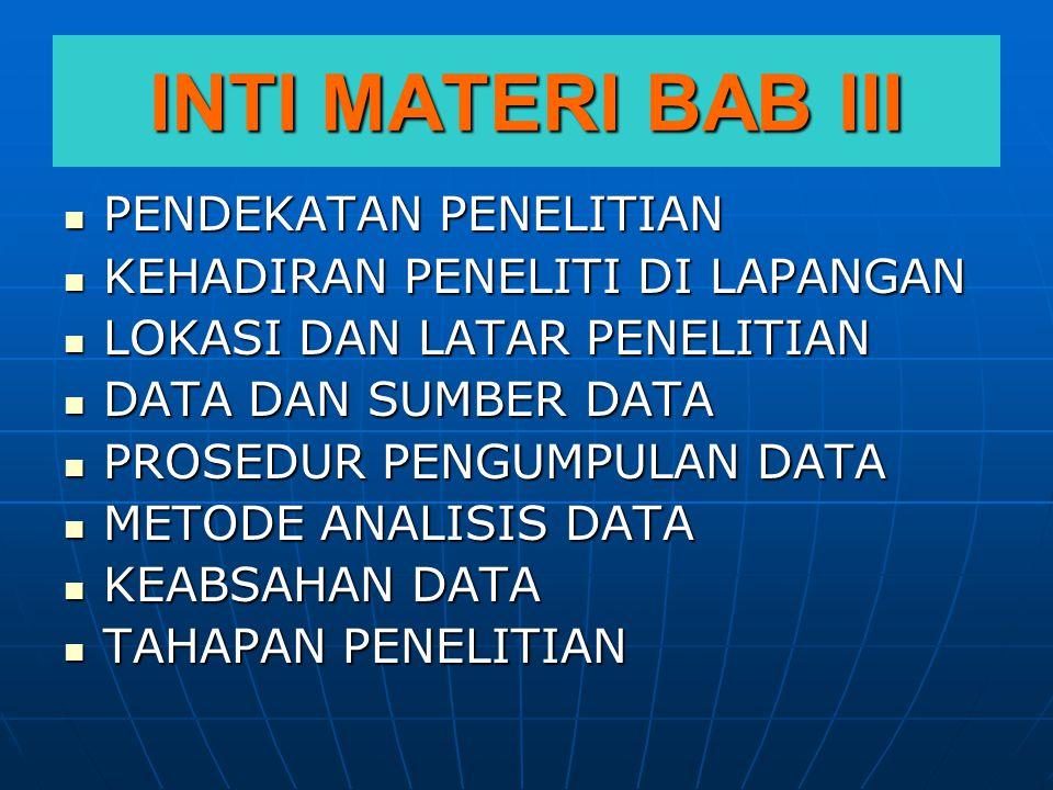 PENJELASAN SETIAP SUB BAGIAN DARI BAB III.A.