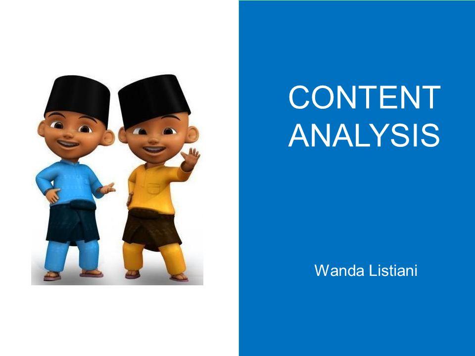 CONTENT ANALYSIS Wanda Listiani
