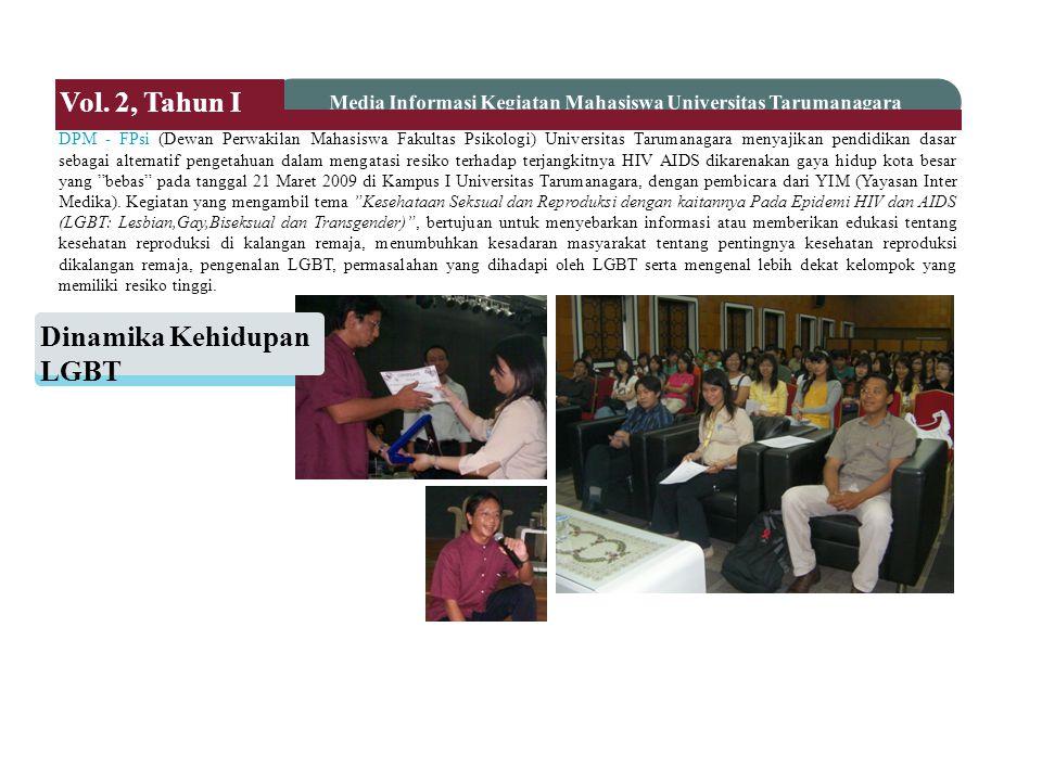 DPM - FPsi (Dewan Perwakilan Mahasiswa Fakultas Psikologi) Universitas Tarumanagara menyajikan pendidikan dasar sebagai alternatif pengetahuan dalam m