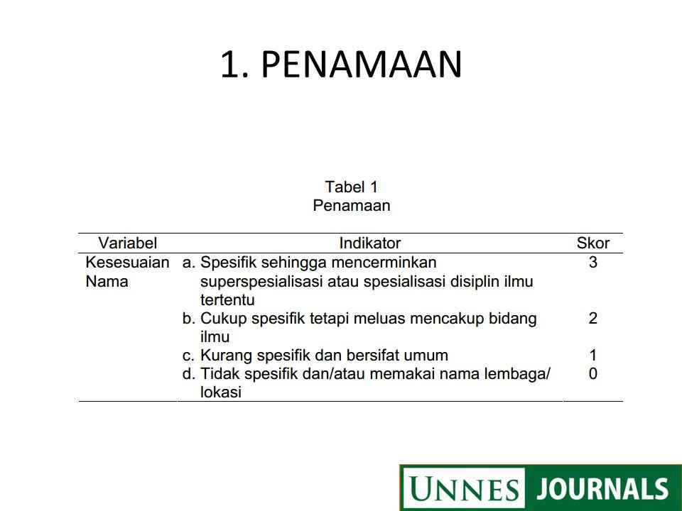 1. PENAMAAN