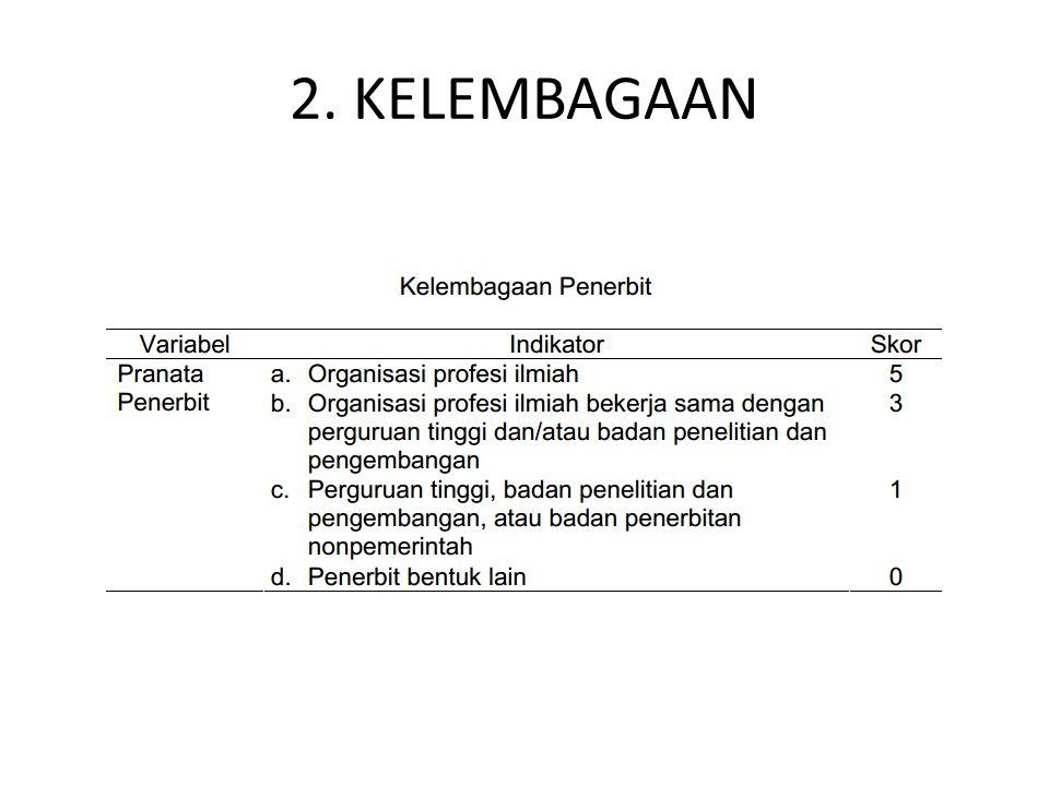 2. KELEMBAGAAN