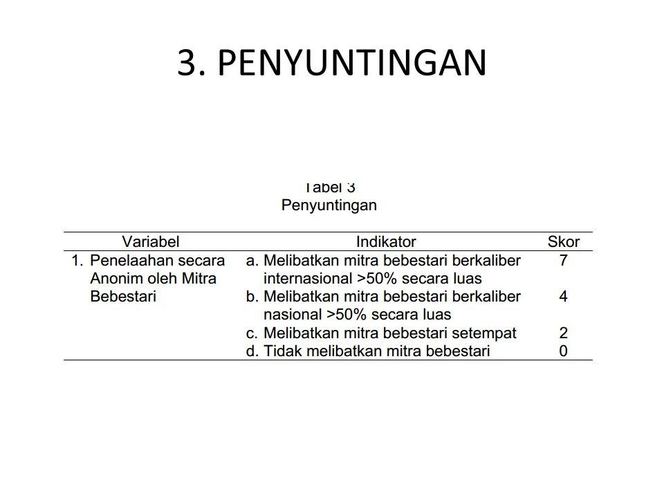 3. PENYUNTINGAN