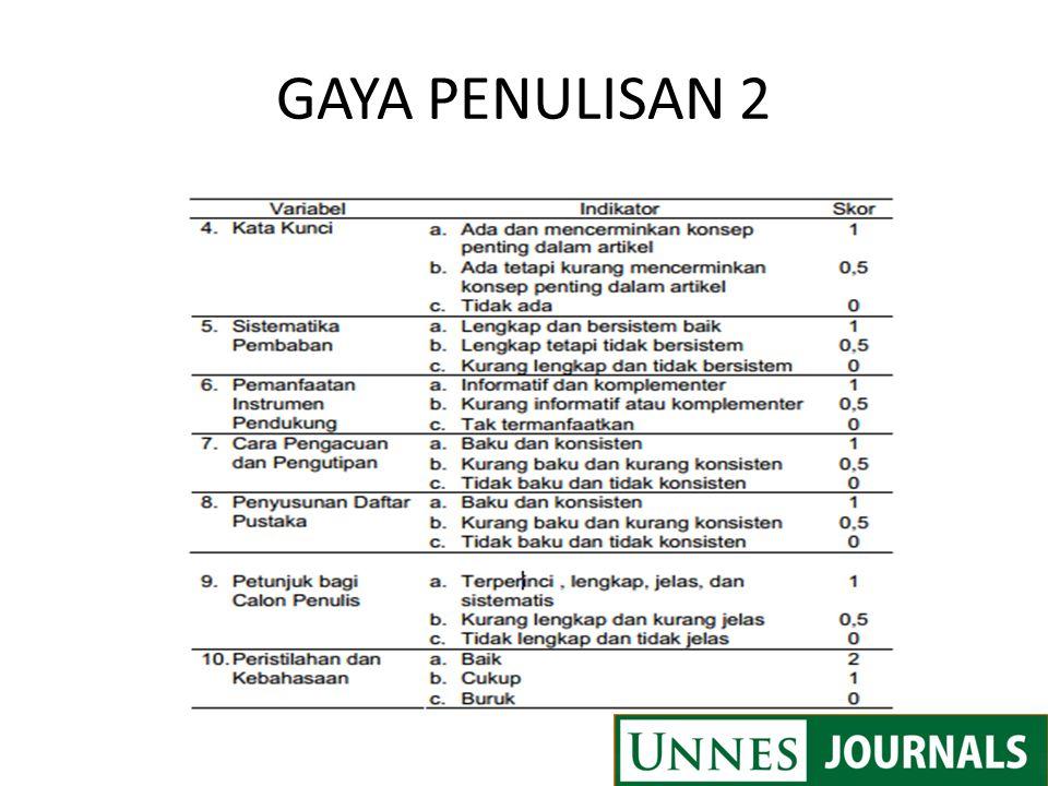 GAYA PENULISAN 2