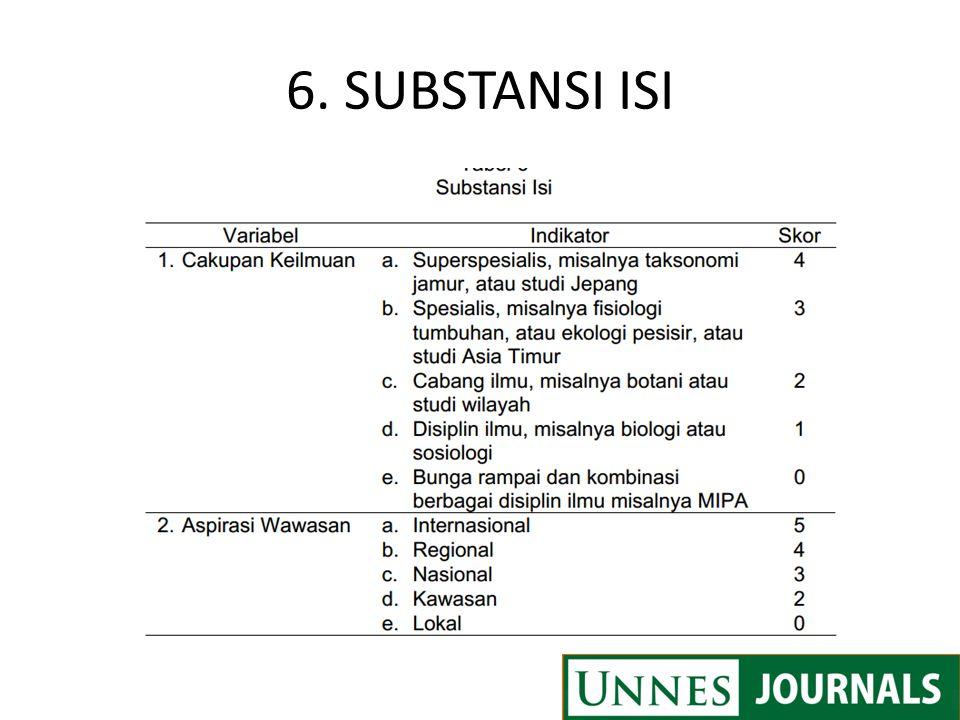 6. SUBSTANSI ISI