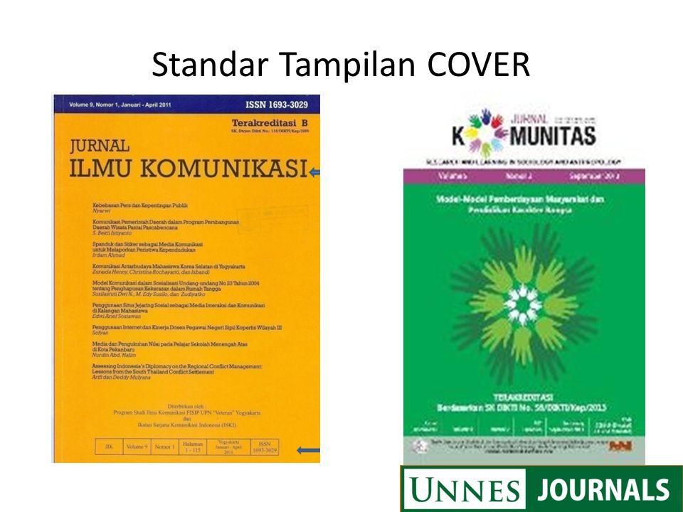 Standar Tampilan COVER