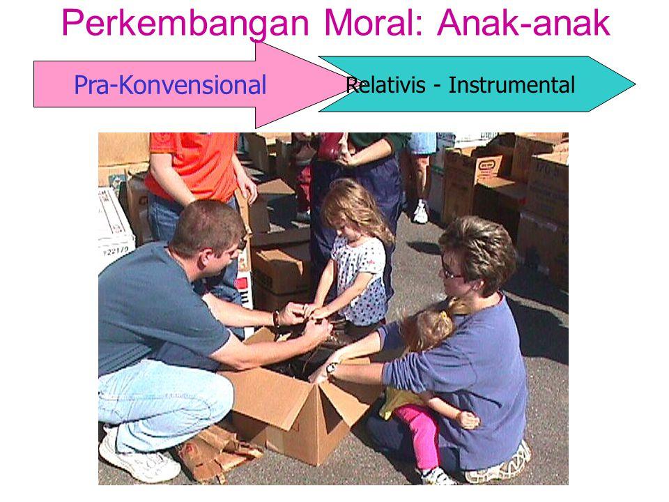 Pra-Konvensional Perkembangan Moral: Anak-anak Relativis - Instrumental