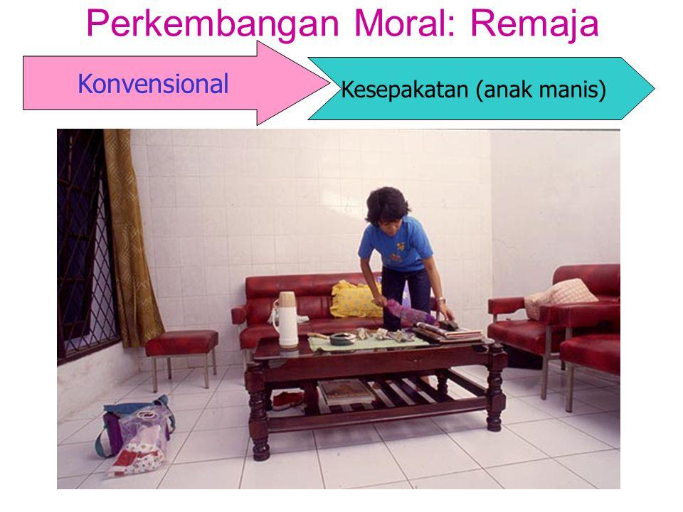 Konvensional Perkembangan Moral: Remaja Kesepakatan (anak manis)