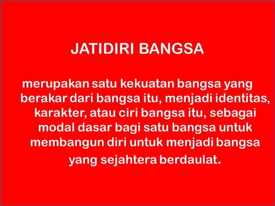excellence with morality ARTI JATIDIRI (KARAKTER) Jatidiri sebagai kekuatan jiwa (the power of mind) manusia yang terdiri dari sifat, semangat, keprib
