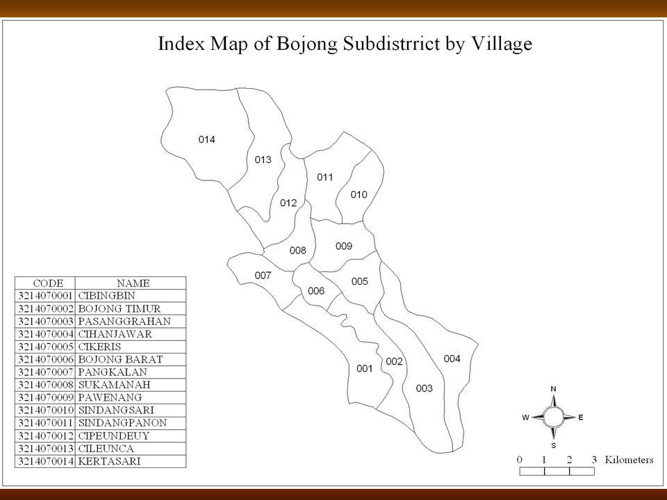 13 Peta Indeks Kecamatan Bojong Per Desa