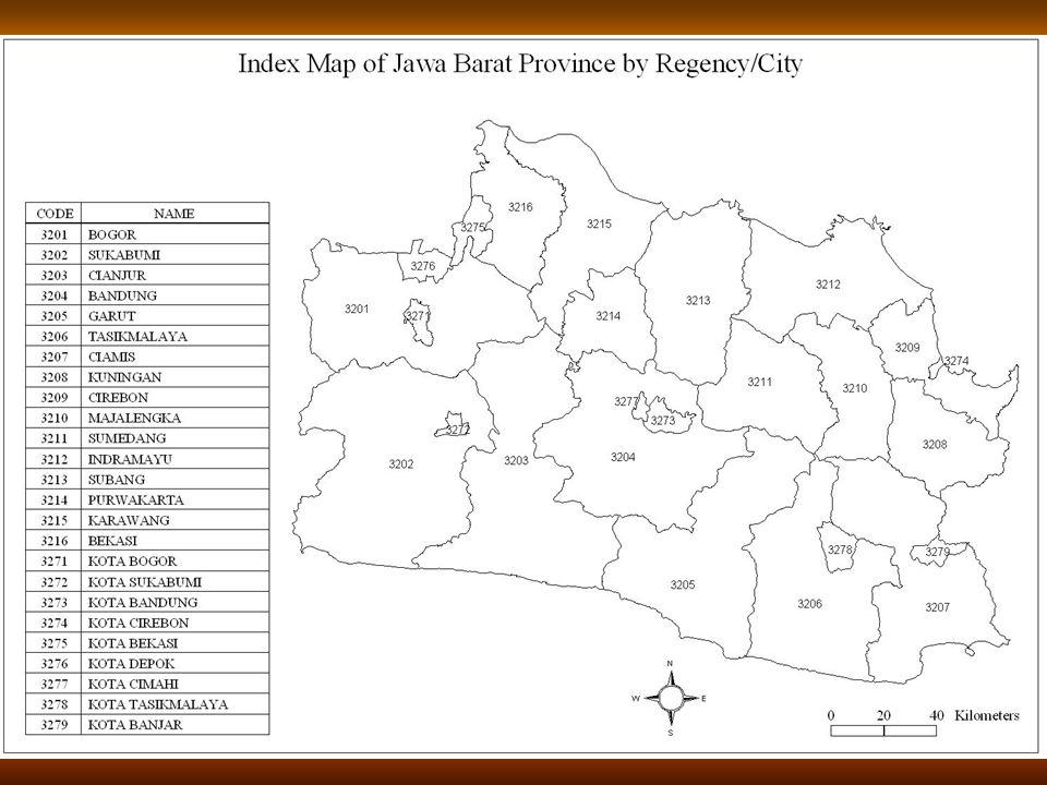 9 Peta Indeks Provinsi Jawa Barat Per Kabupaten/Kota