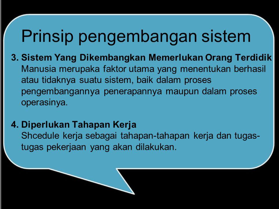 Prinsip pengembangan sistem 3.