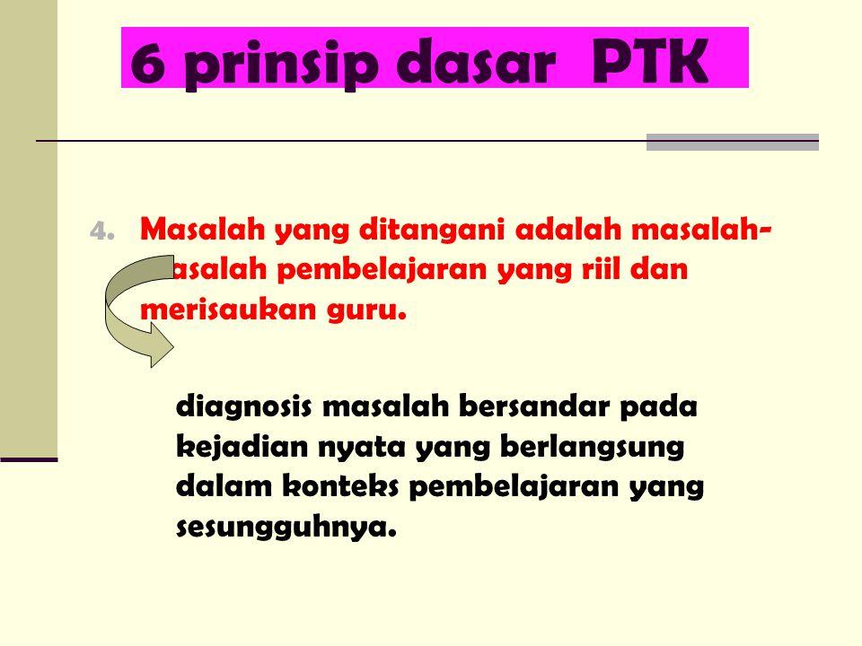 6 prinsip dasar PTK 4.