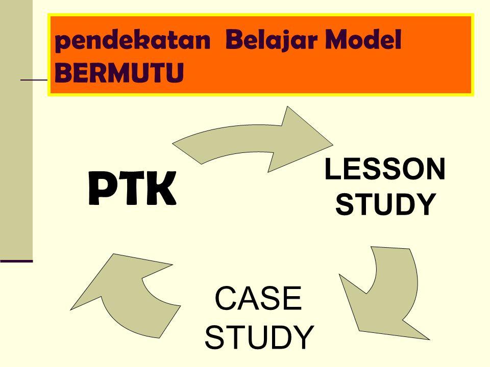 pendekatan Belajar Model BERMUTU LESSON STUDY CASE STUDY PTK