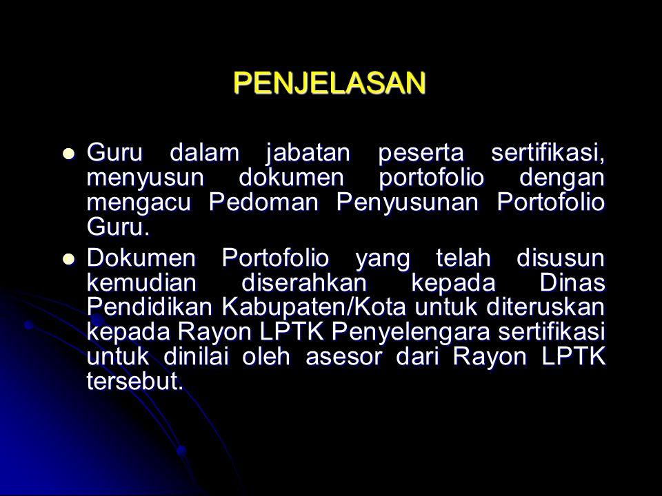 Ditjen PMPTK melakukan hal-hal sebagai berikut: Memfasilitasi dinas pendidikan provinsi dan dinas pendidikan kabupaten/kota dalam menjabarkan rambu-rambu kriteria seleksi internal provinsi.