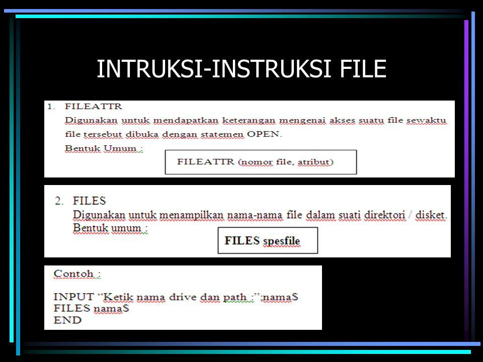 INTRUKSI-INSTRUKSI FILE