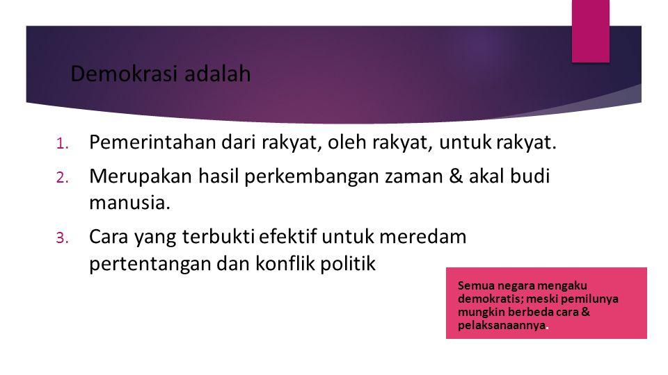 Solusi 3 Peningkatan martabat pemilih  Kontrak politik (pemilih) dengan kandidat  Pengkondisian (atau tindak lanjut) pakta integritas partai