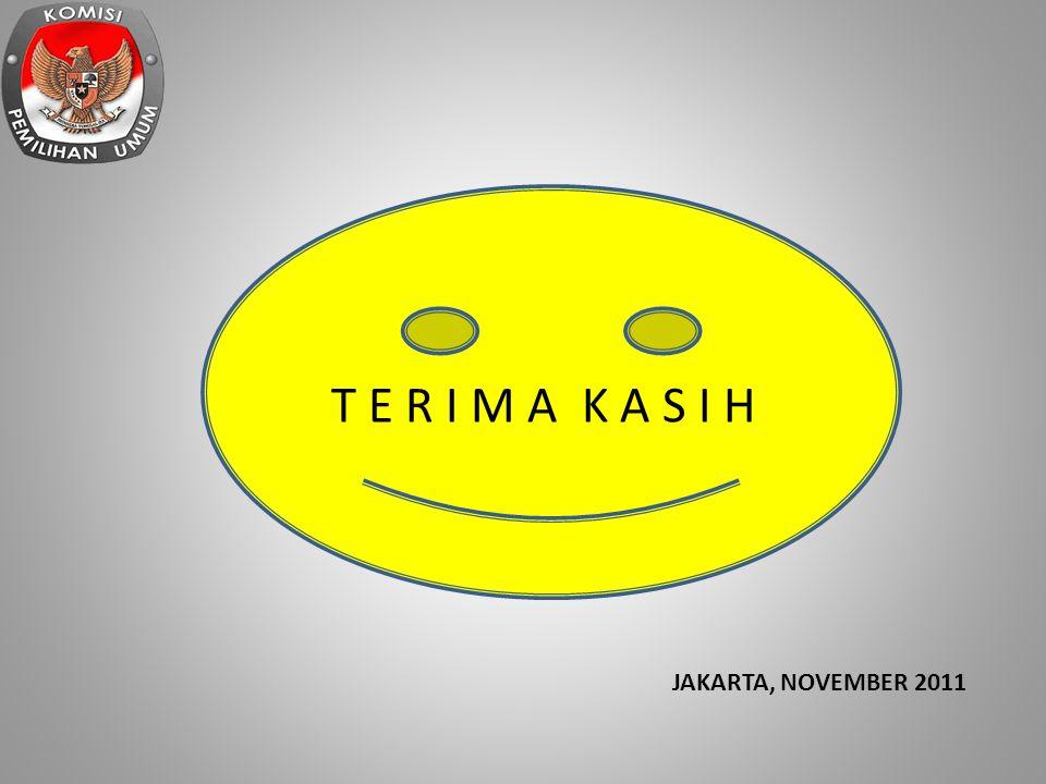 T E R I M A K A S I H JAKARTA, NOVEMBER 2011