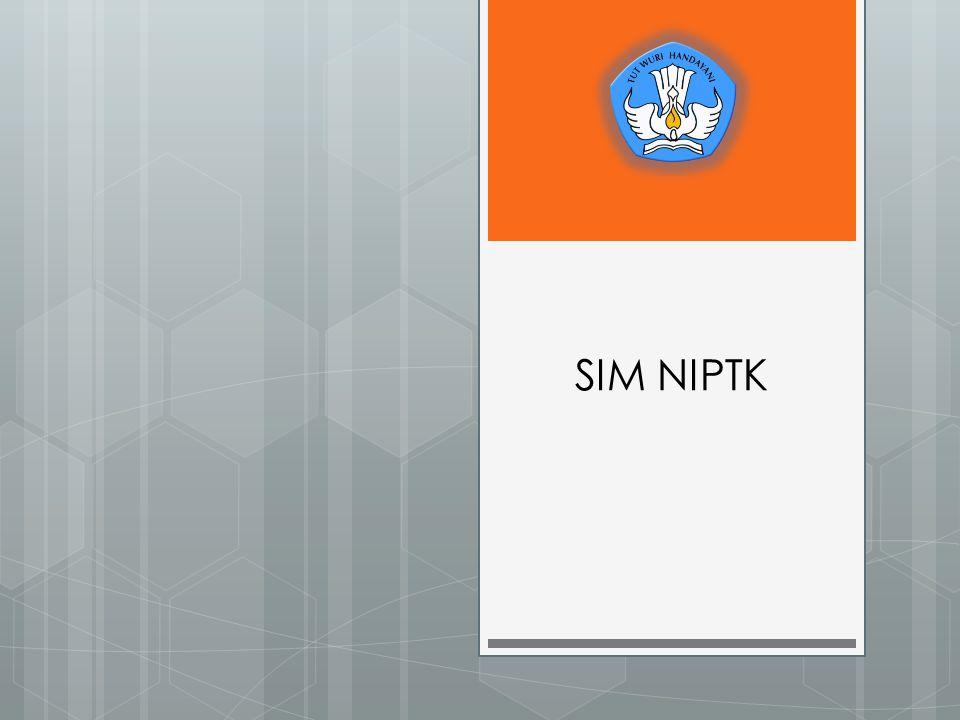 User Aplikasi NIPTK