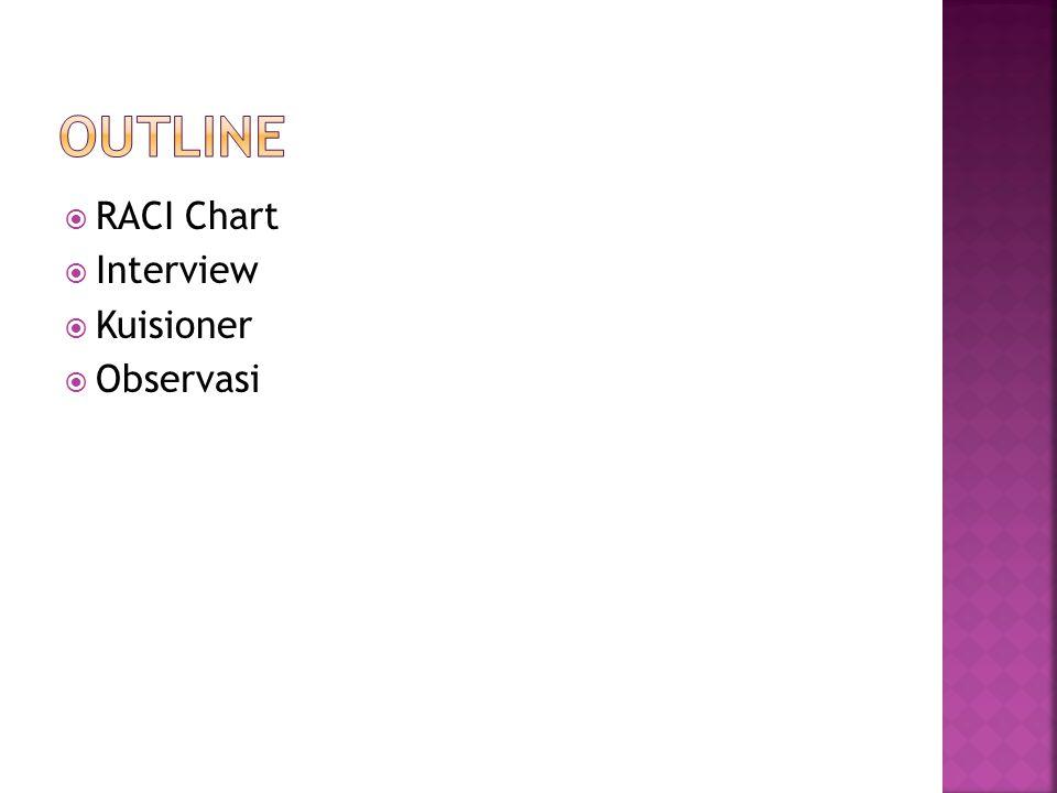  RACI Chart  Interview  Kuisioner  Observasi