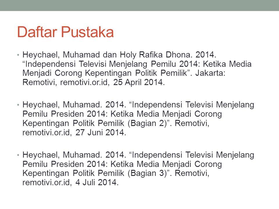 Daftar Pustaka Heychael, Muhamad dan Holy Rafika Dhona.