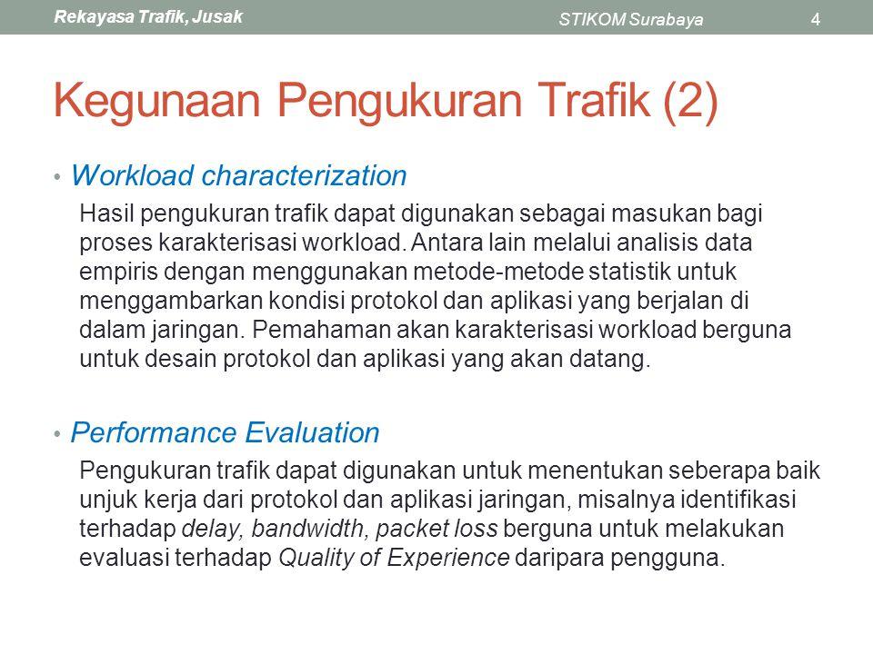 Rekayasa Trafik, Jusak STIKOM Surabaya35 Traceroute (2) Aplikasi traceroute menggunakan salah fitur Internet Protocol yaitu Time To Live (TTL).