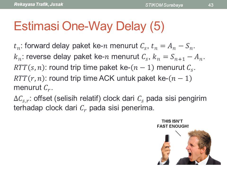 Rekayasa Trafik, Jusak STIKOM Surabaya43 Estimasi One-Way Delay (5)
