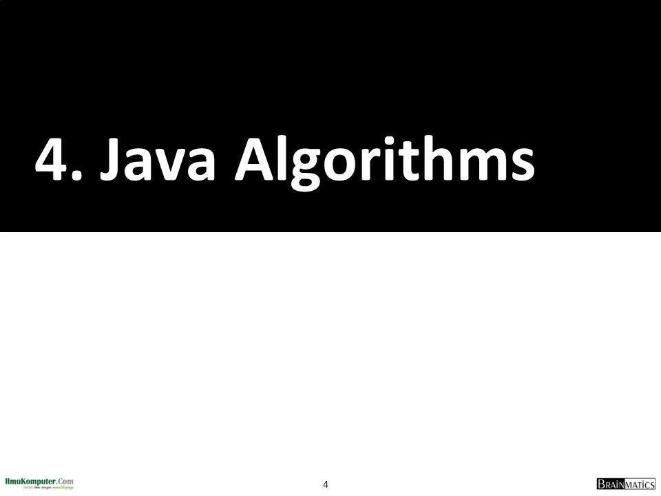 55 Referensi 1.Sharon Zakhour et al, The Java Tutorial Fourth Edition, http://java.sun.com/docs/books/tutorial 2.Cay Horstmann, Big Java: Earl Objects 5 th Edition, John Wiley & Sons, 2013 3.Deitel & Deitel, Java Howto Program 9 th Edition, Prentice Hall, 2012 4.Richard M.