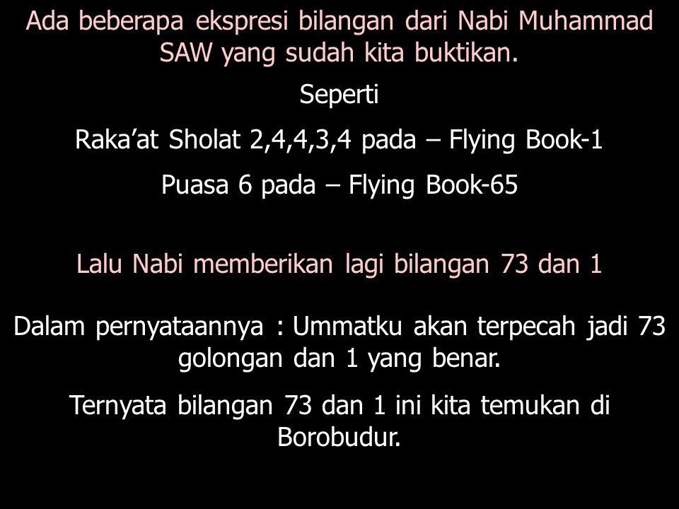 Ada beberapa ekspresi bilangan dari Nabi Muhammad SAW yang sudah kita buktikan.