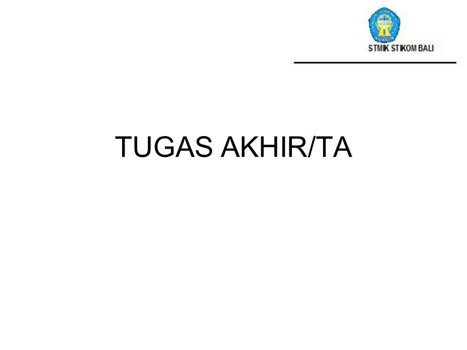 TUGAS AKHIR/TA STIKOM BALI